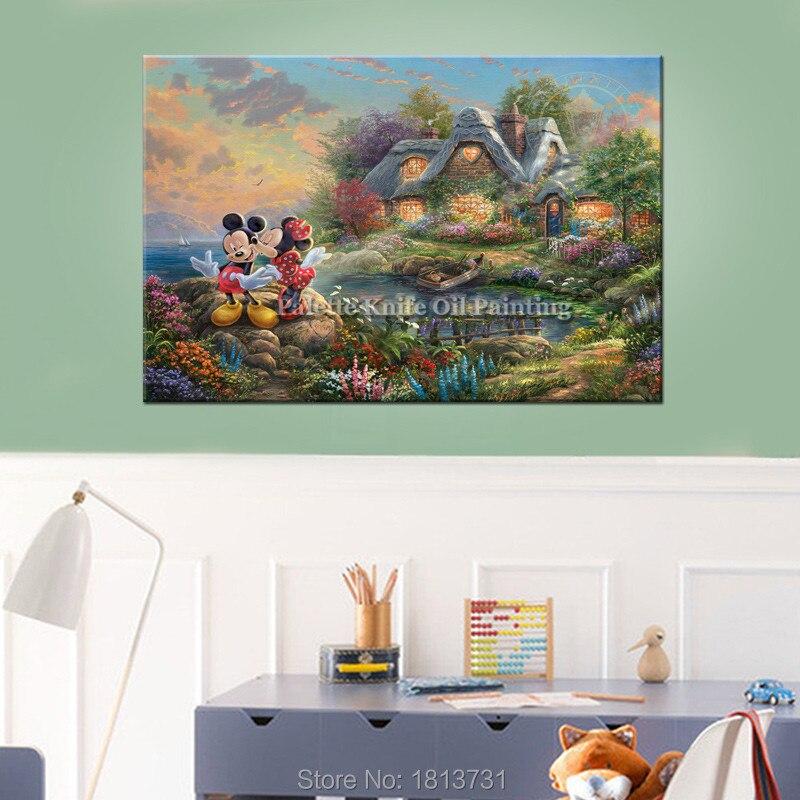 Thomas Kinkade Mickeyand Minnie Maus Leinwanddruck Poster und Druck - Wohnkultur - Foto 3