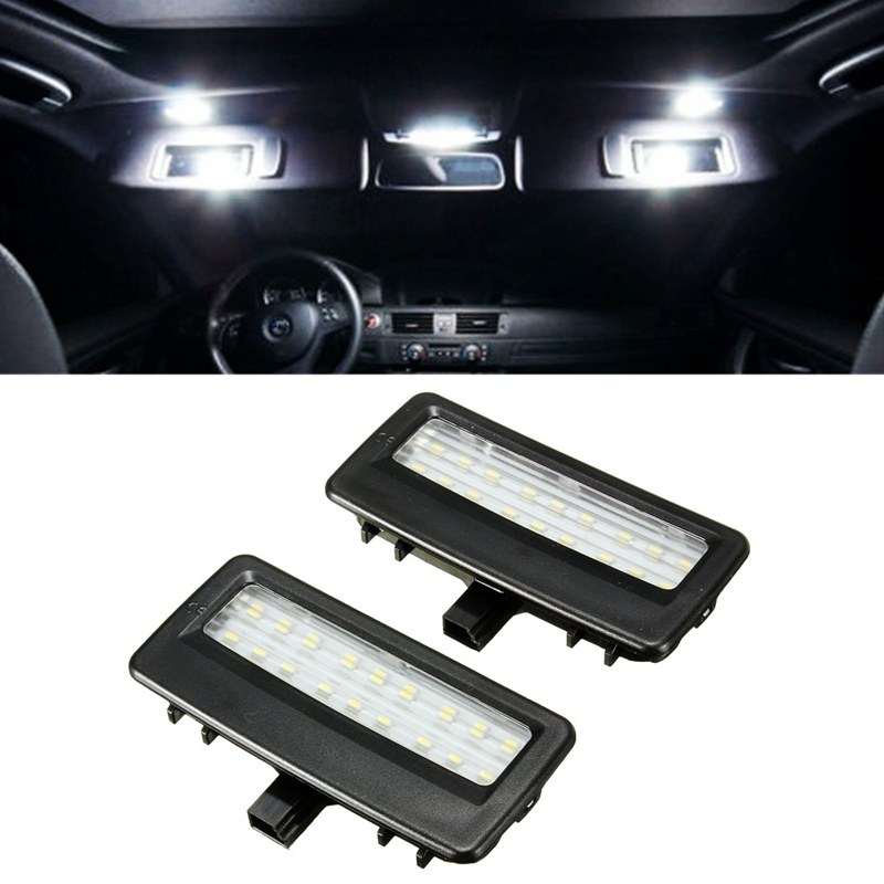 2X 18 LED Universal Interior Light 12V Mirror Visor LED Light Specchio Visiera LED Light Lampad Per For BMW F10 F11 F07 F01 F02