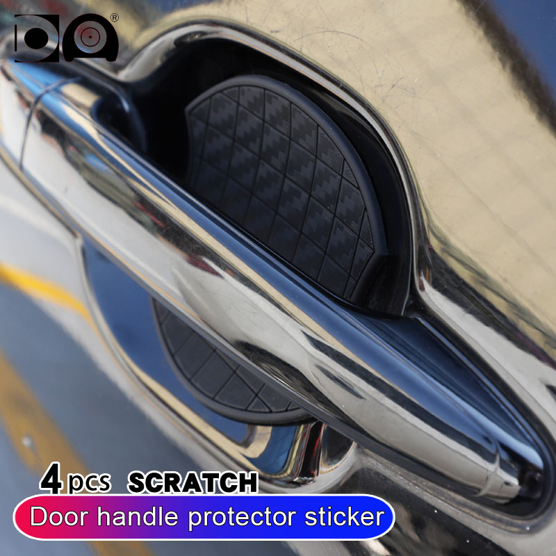 4pcs Car door handle Scratch protector Carbon fiber sticker Wrist decoration for Mazda 3 2 6 5 8 cx 3 cx 5 mx 5 cx 9 cx 7 cx 4 in Car Stickers from Automobiles Motorcycles
