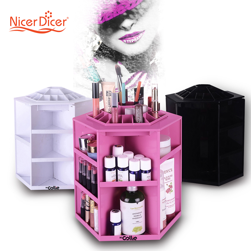 Aliexpress.com : Buy HiCollie Tabletop Big Capacity 360 Rotating Cosmetic  Storage/Revolving Makeup Organizer Carousel White Sturdy Stylish From  Reliable ...