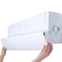 Condicionador de ar ajustável capa reta anti-vento escudo pára-brisa ar condicionado defletor escudo vento guia mês ventilador acesso