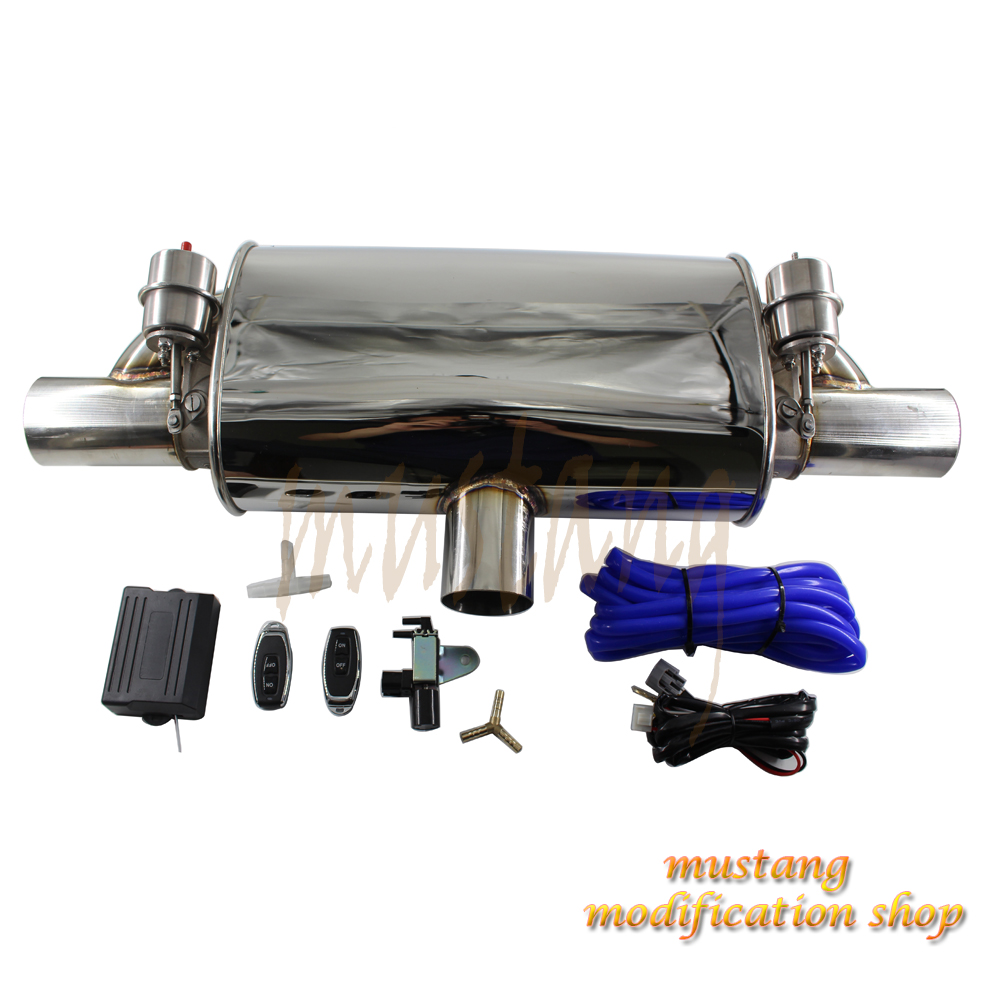 Universal various size car tuning muffler valve controller exhaust Pipe accessories Stainless Steel Graphic design