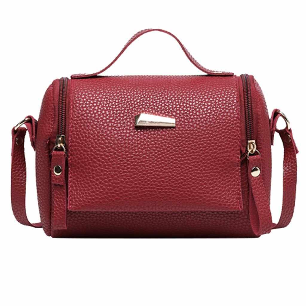 Oreiller sacs à bandoulière pour femmes 2019 mode fermeture éclair en cuir PU dame épaules sac lettre sac à main téléphone portable sac de messager