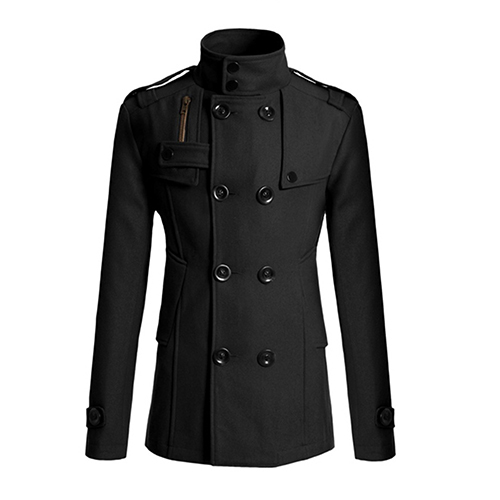 Men's Fashion Slim Long Trench Coat Windbreaker Lapel Button Jacket Outwear 09WG