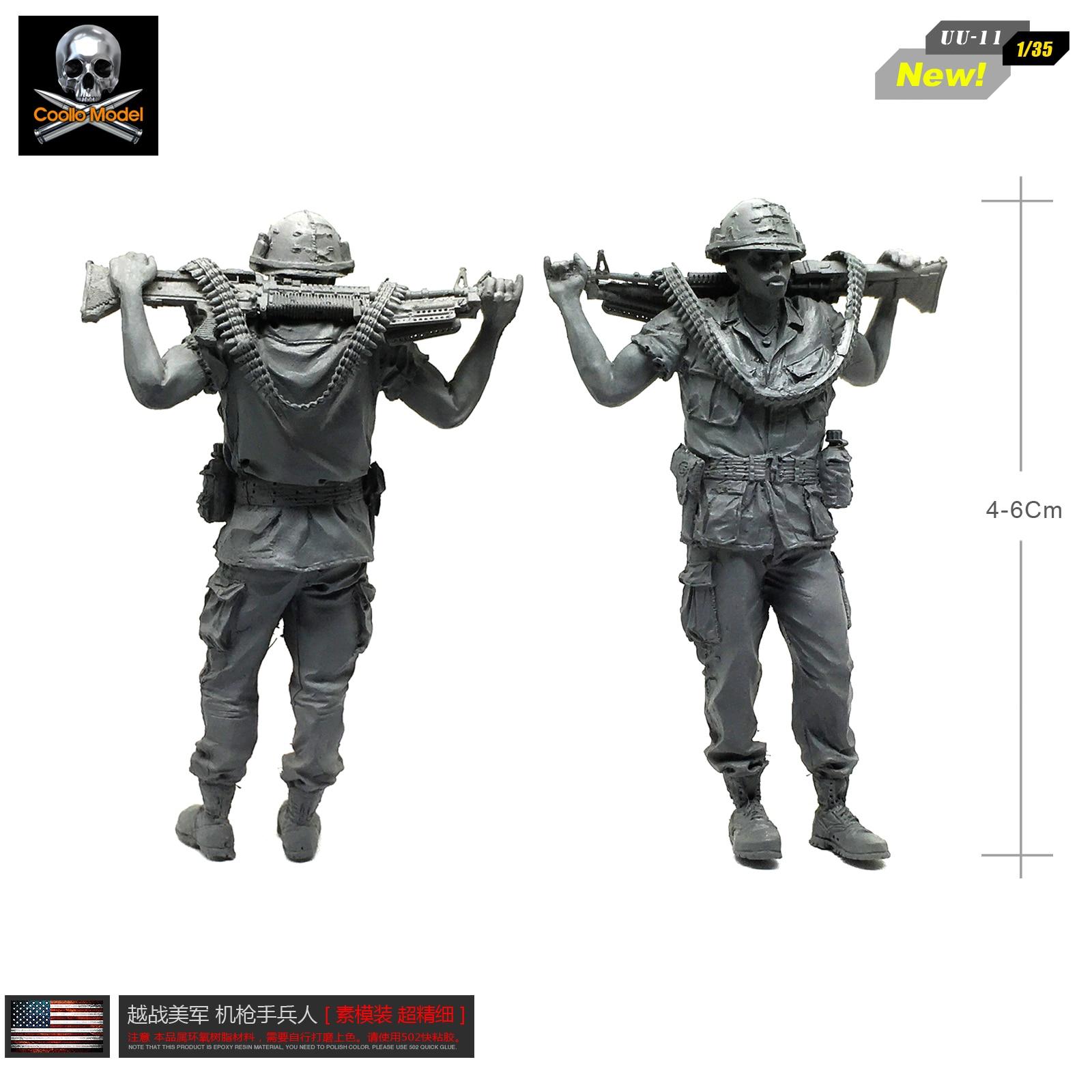 1/35 Figure Kits  Us Marine Corps 1:35 Resin Soldier  Machine Gunner Self-assembled UU-11
