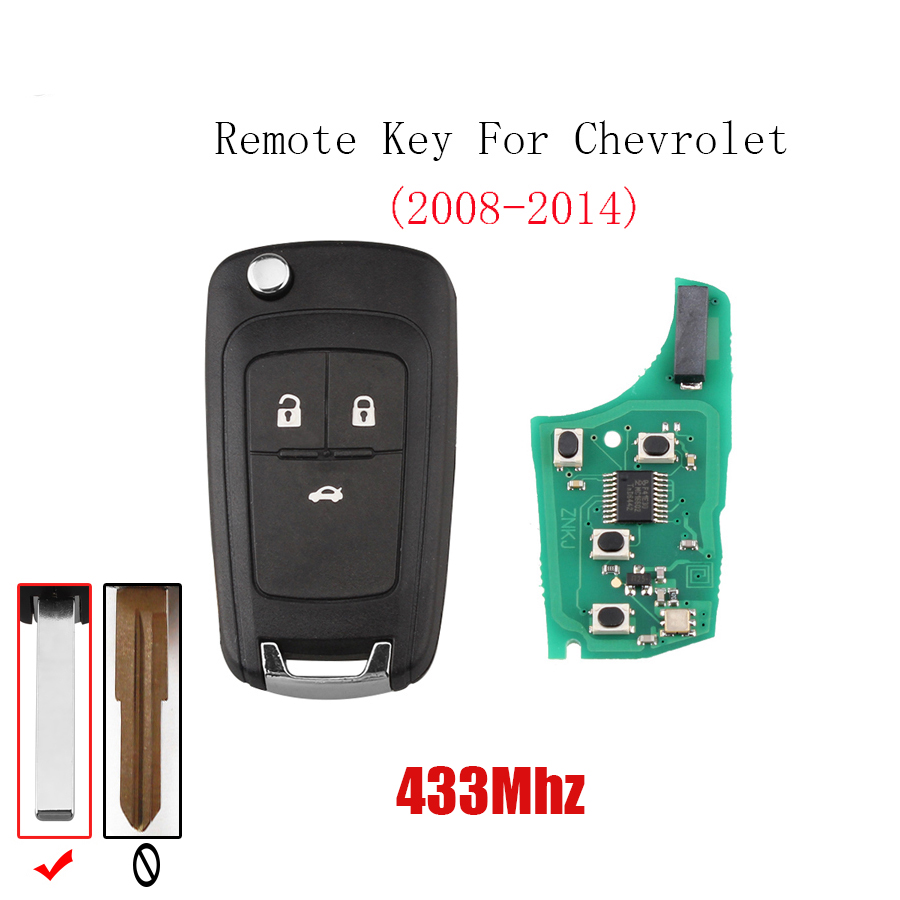 Chevrolet Malibu 2014 For Sale: Aliexpress.com : Buy 2pcs*433Mhz Car Remote Key HU100