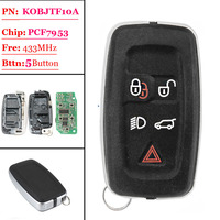 Free shipping (1 piece)5 button Car Remote Smart Key for Land Rover LR4/Sport/Evoque 433MHz 2010 2011 2012 2013 2014 2015