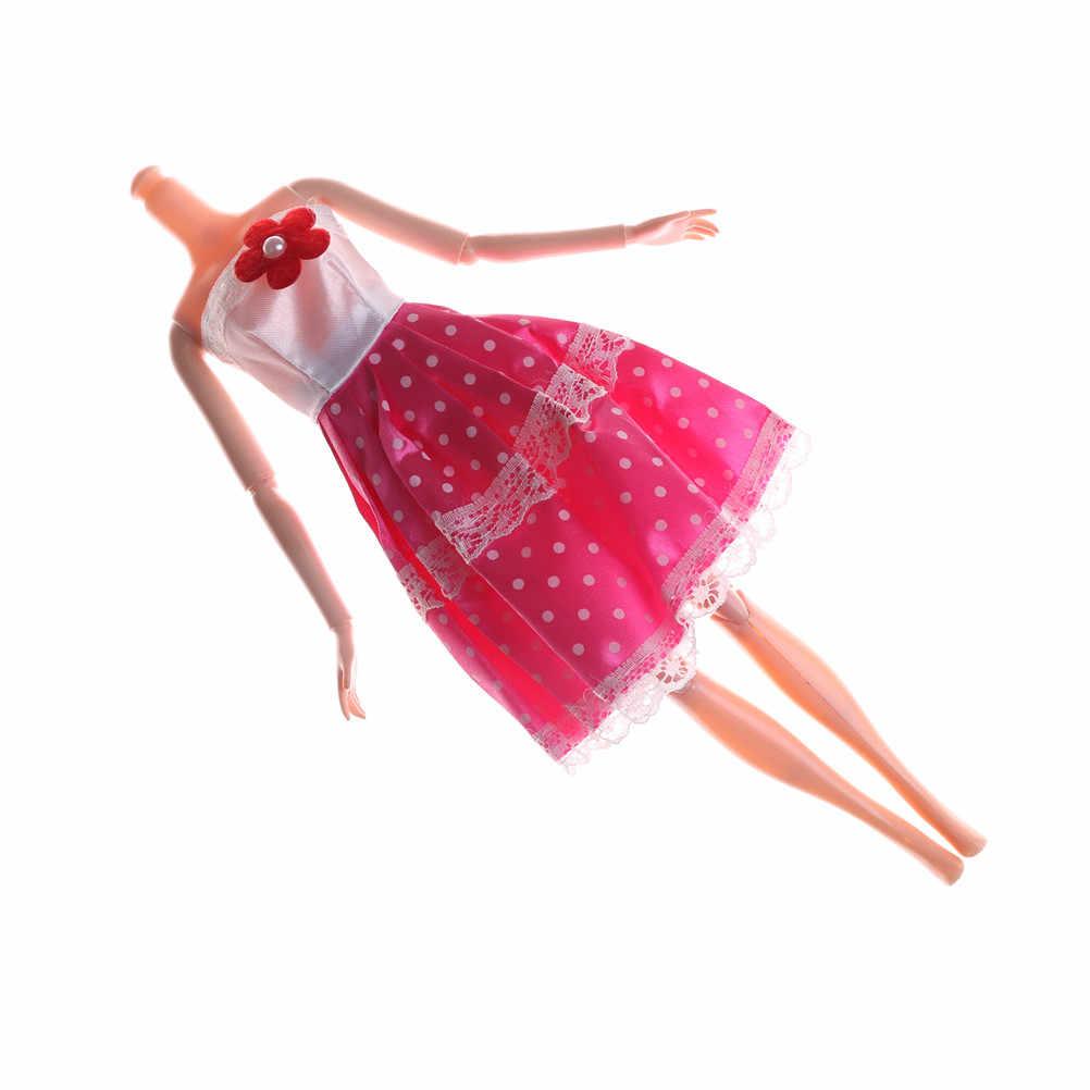 Váy Đẹp Ban Đầu Quần Áo Búp Bê Hoa Màu Hồng Đảng Bầu Cho Ban Đầu Búp Bê Một Bộ