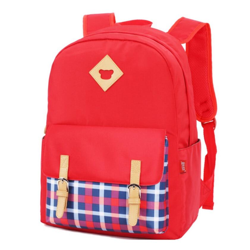 kids school backpack plaid bag girls school bags Korean style children backpacks schoolbags for teenagers girl schoolbag bookbag