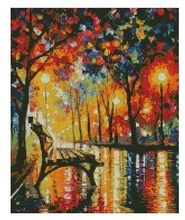 14/16/18/27/28 hot selling Top Quality cross stitch kit raining street rain, oil painting cross stitch FREE delivery(China)