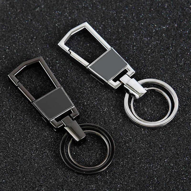 RE Alto Grau de Estilo dos homens de Negócios Preto Cintura Pendurado Chaveiro Carro Titular Chaveiro Carro Pingente de Chave Acessórios Presente J2535