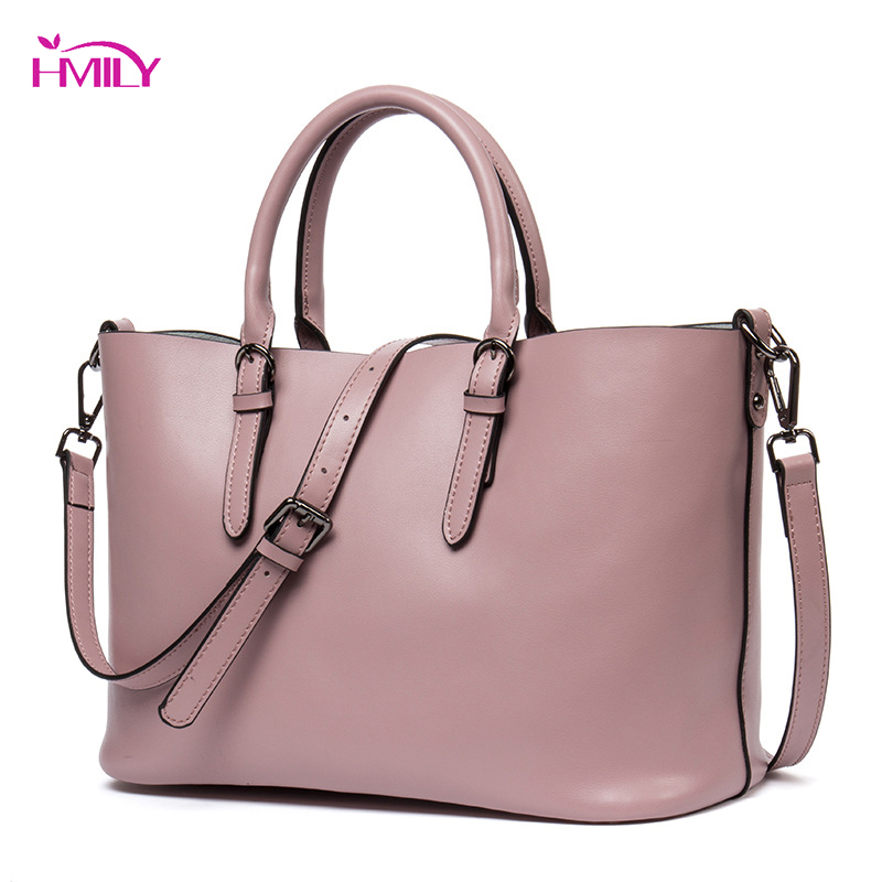 HMILY Women Bag Soft Leather Handbag Large Capacity Female Candy Color Socialite Tote Womens Classic Style Ladies Messenger Bag hmily genuine leather crossbody bag female diamond lattice messenger bag luxury socialite daily bag chaibs style women bag