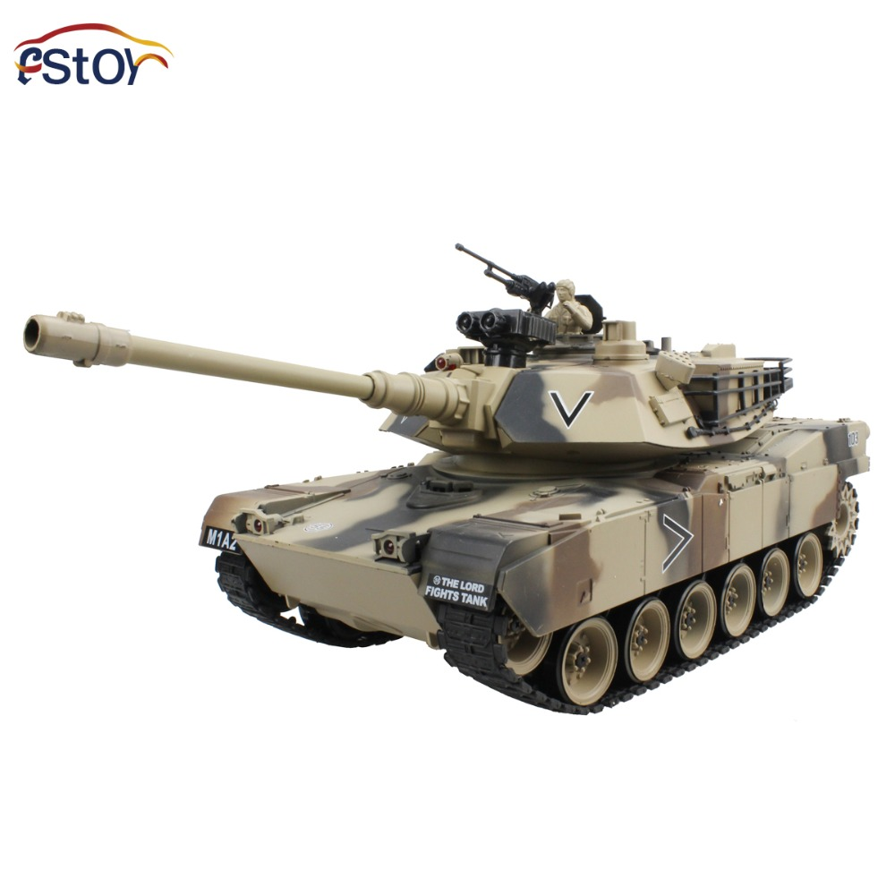 RC Tank 15 Channel 1 20 USA M1A2 Main Battle Tank Model With Shoot Bullet Remote