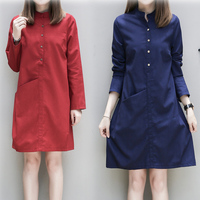 Make Long Cotton Dresses In The Autumn The New Large Code Big Yards Of Cultivate One