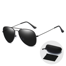 Classic Retro Aviation Sunglasses Polarized for Men Brand Design Vintage Driving Eyewear Sun Glasses Women with Case