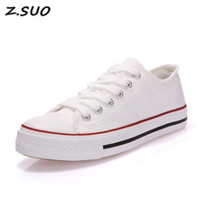2017 Hot Female Canvas Shoes Low To Help Shallow Mouth Light Breathable Ladies Pure Color Flat