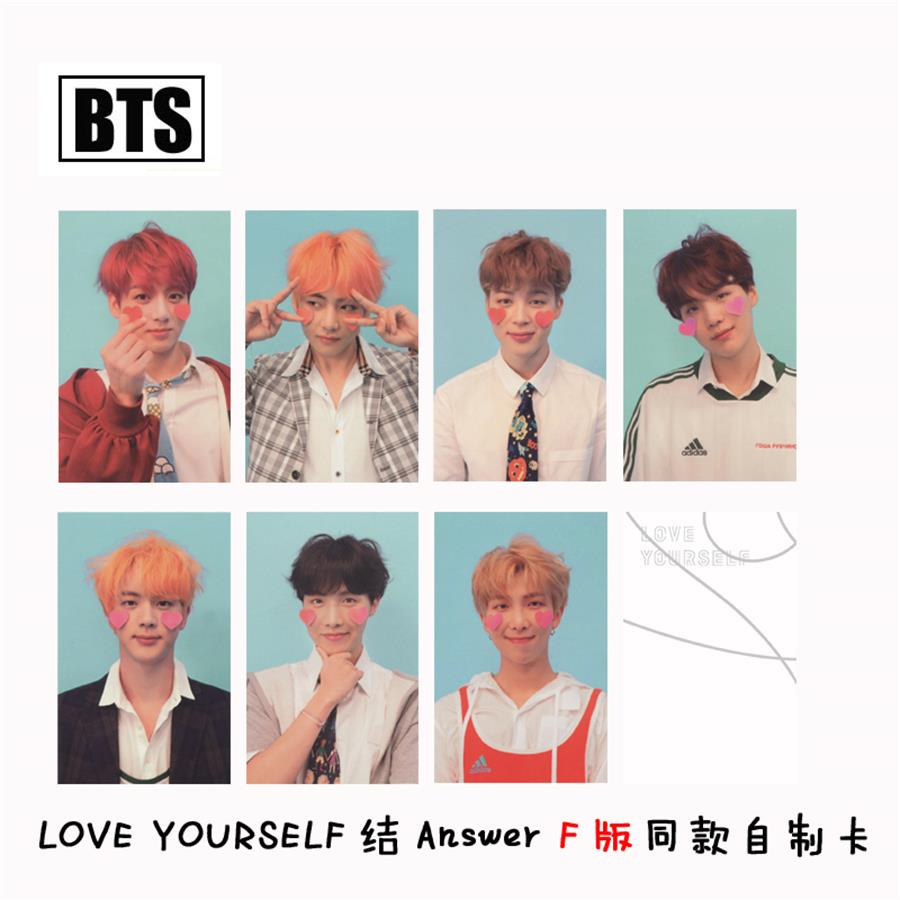 Jewelry & Accessories Nice Kpop Bts Love Yourself Answer F Version Paper Photo Cards Bangtan Boys Autograph Photocard 7pcs/set Making Things Convenient For The People Beads & Jewelry Making
