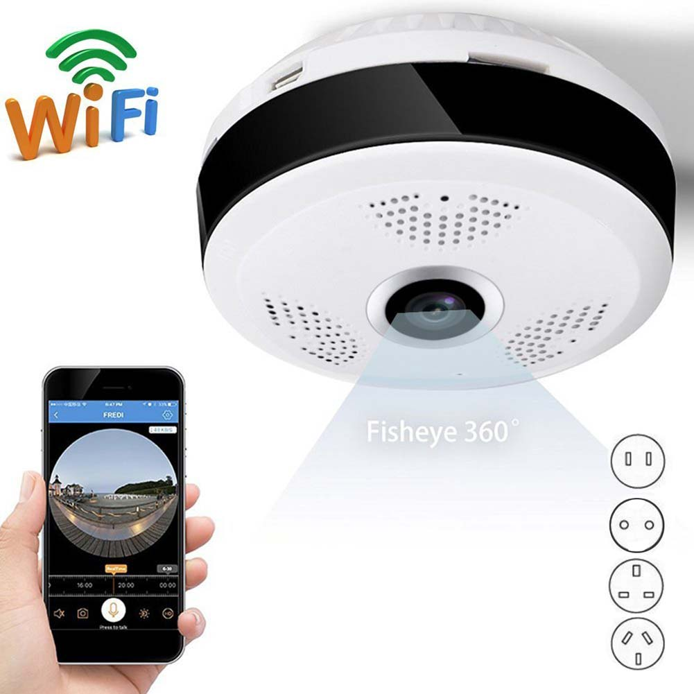 360 Degree Panoramic Fisheye 3D Wireless Wifi 2.4GHZ IP Camera Wide Angle IR Night Motion Detection Home Security Cam LCC77 нивелир ada cube 2 360 home edition a00448