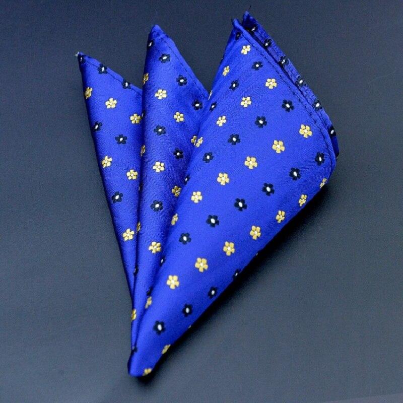 High Quality Hankerchief Scarves Vintage Hankies Floral Print Men's Pocket Square Handkerchiefs 100% Cotton 24*24cm Hanky