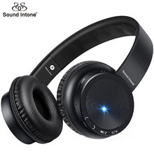 Sound Intone P30 Bluetooth Headphone With Mic Support TF Card Wireless Headphones Stereo Bass Headsets For Xiaomi iPhone PC MP3(China)
