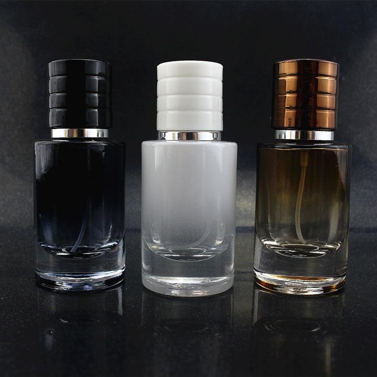 30ML Spray Color Straight Round Bottle Perfume Glass Empty Bottle 4pcs/lot