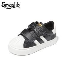 Kids Shoes Boys Casual Sneakers Girls 2019 Spring High Quality Child Sports Shoes Baby Pu Leather White Shoes Children Sneakers цена