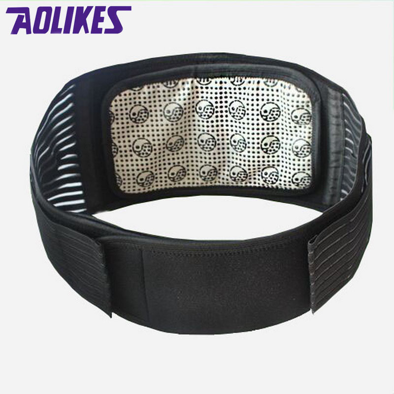 AOLIKES Turmalin-Produkte Selbsterhitzung Magnetic Taille Rückenstütze Gürtel Lendenwirbel Warm Protector Körperhaltung Korrektor