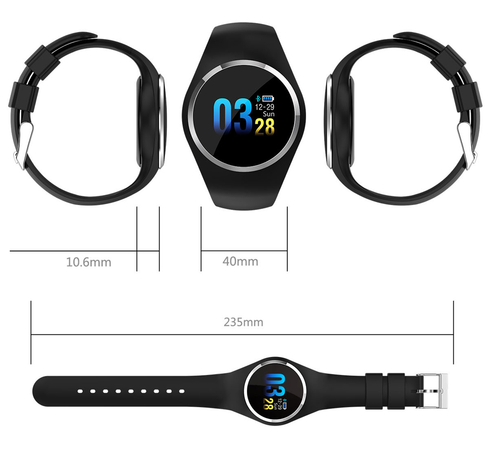 CYUC Q1 Smart Wristband Color LCD Screen Blood Pressure Heart Rate Monitor smart band Fitness Tracker Smart Bracelet ladies 12