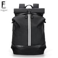 FENRUIEN Waterproof 15.6 inch Laptop Backpack Men Casual Bagpack for Teenager Girls Travel Backpack USB Mochila Women Male 2018