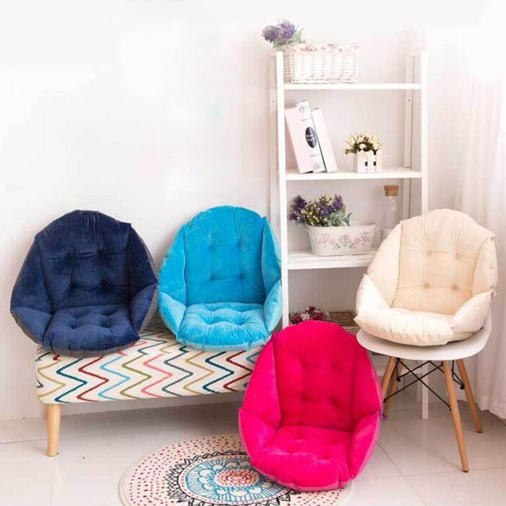 Soft Plush Shell Design Seat Cushion Lumbar Back Support Cushion Pillow For Beach/Office Home Car Seat Chair Buttocks Pad