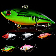 1pcs VIB Fishing Lures 6.5cm-2.6″ Hard Fishing Bait 11g-0.39oz 3d eyes fishing tackle Crankbaits