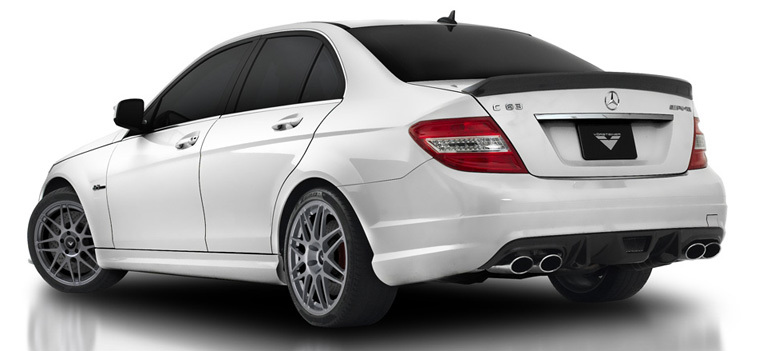 W204 C63 Carbon Fiber Rear Trunk Boot Spoiler Wing Lip for Mercedes - Auto Replacement Parts - Photo 3