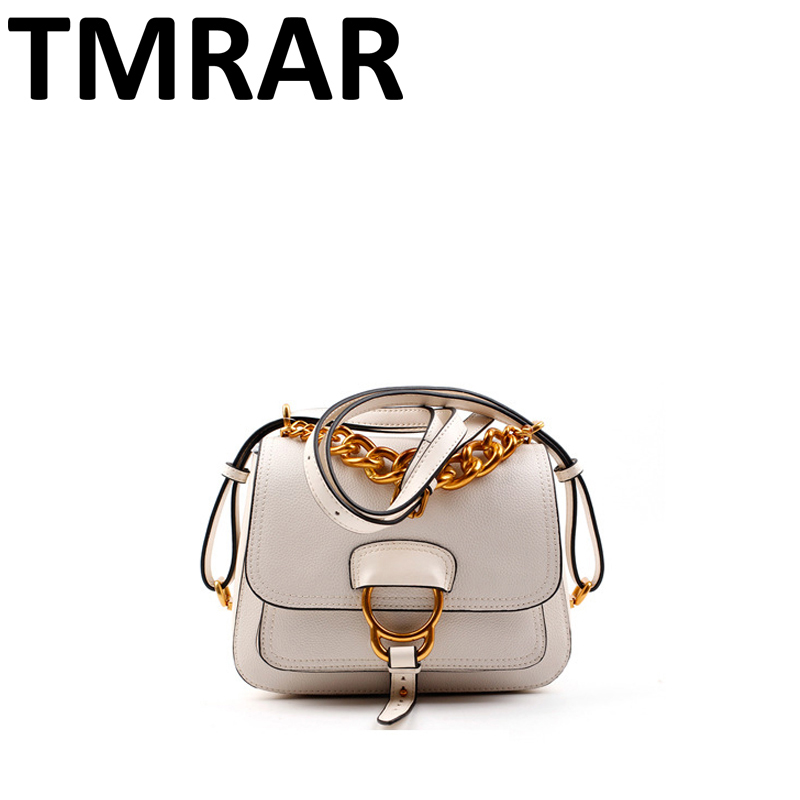 2018 New saddle split leather handbags patchwork chains women chic lady main new modern brand design shoulder bags qn003 new split leather snake skin pattern women trunker handbag high chic lady fashion modern shoulder bags madam seeks boutiquem2057
