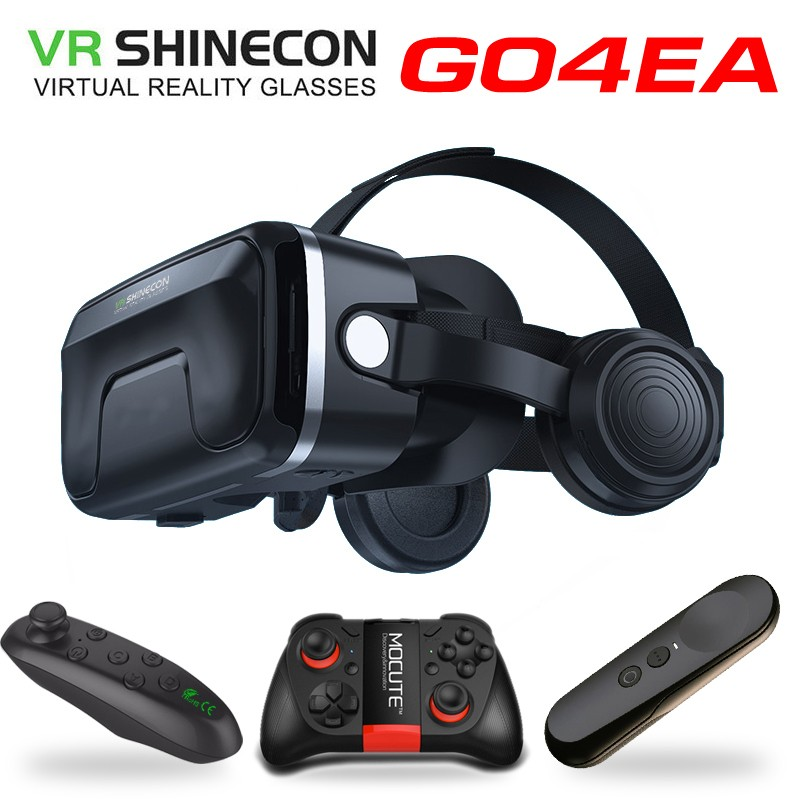 NEW VR shinecon 6.0 headset upgrade version virtual reality glasses 3D VR glasses headset helmets Game box Game box VR BOX skull print slashed tee