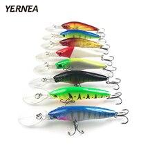 Yernea 8pcs/Lot 9cm 6.5 g Minnow Fishing Lures Wobblers Artificial Bait Carp Crankbait Lure Tackle 3D Eyes 8 Colors