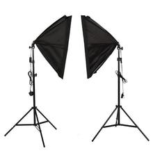 Фотостудия софтбокс Свет Стенд Комплект непрерывного освещения коробка освещения 2 шт 50x70 см/20 дюймов x 28 дюймов отражатель для видео
