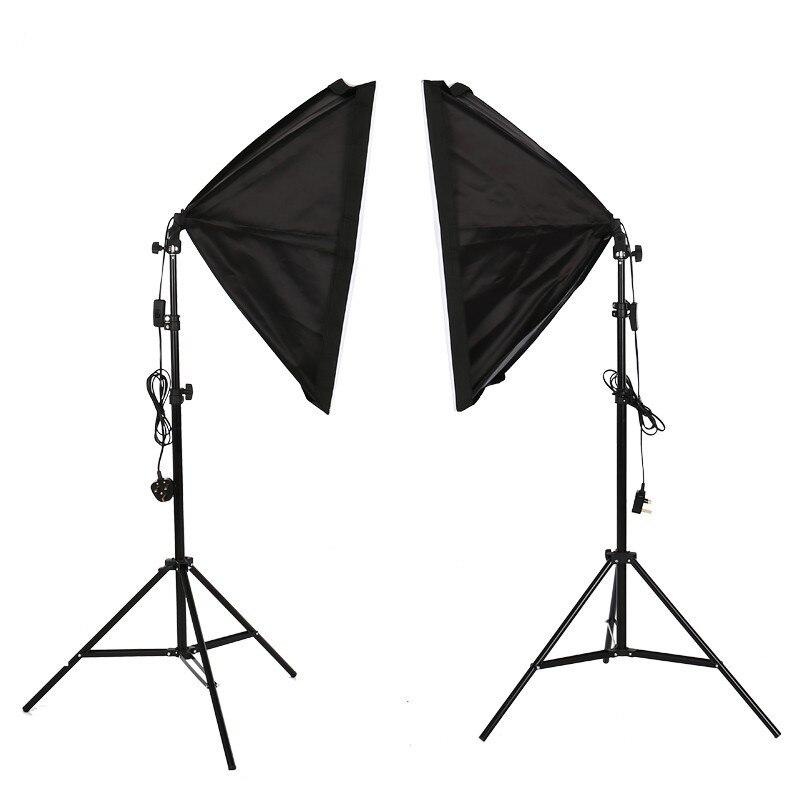 Studio de photographie Softbox Support Léger Kit D'éclairage Continu boîte D'éclairage 2 pièces 50x70 cm/20 pouces x 28 pouces Réflecteur pour la Vidéo