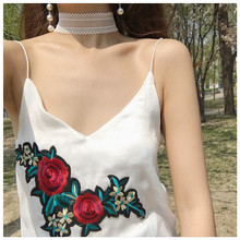 New 2017 Chic Fashion V Neck Sexy Flower Women Casual Vest 41758