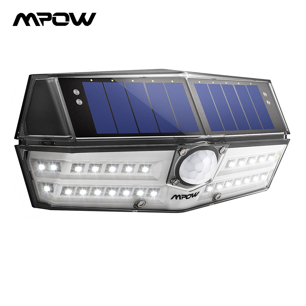 Mpow CD137 30 LED jardín luces solares Ipx7 lámpara Solar impermeable gran angular Sensor de movimiento Solar para garaje de camino/ piscina