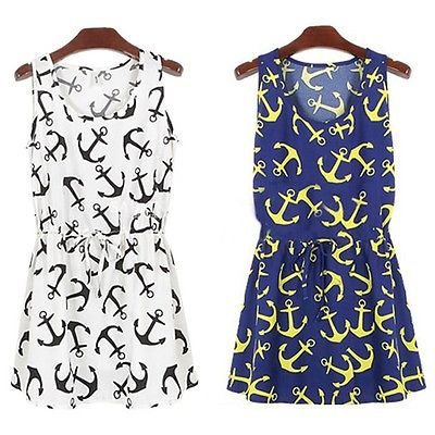 New New Design fashion Hot Summer Women casual Nautical Anchor ...