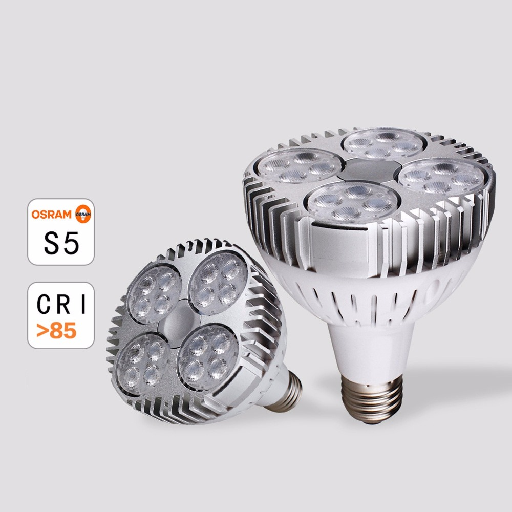 10pcslot e27 led par30 spotlight 35w cree leds dimmable par30 bulb replace 70w metal halide lamp ac85265v dhl free shipping - Metal Halide