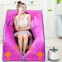 Portable Sauna Home Spa STEAM BATH Slimming Household Box Ease Steam Cabin Stainless Steel Pipe Support STEAMER POT