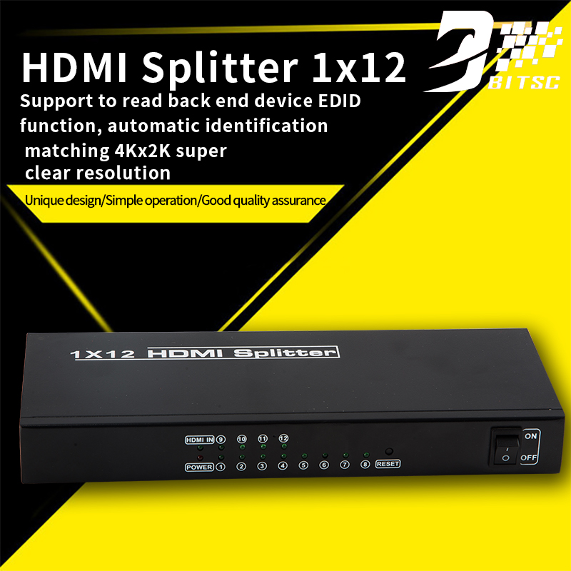 SZBITC High Resolution Wall Video HDMI Splitter 1x12(1 in 12 out )Video wall processor 660v ui 10a ith 8 terminals rotary cam universal changeover combination switch