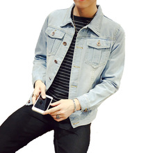 WZJHZ 2019 Large Size L-5XL 6XL 7XL Blue Denim Jacket Spring Loose Lapel Casual Fits