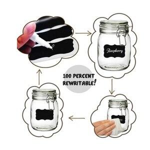 Image 5 - Unibird 32 sztuk/zestaw tablica etykiety z białym Marker z kredą w płynie przyprawa kuchenna słoiki Organizer na buteleczki naklejki wielokrotnego zapisu Pen