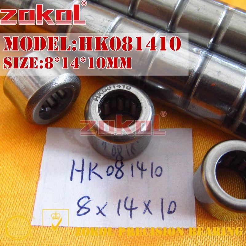 ZOKOL bearing HK081410 HK081412 Needle Roller Bearings 8*14*10mm 8*14*12mm