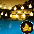 30 LED Outdoor Solar String Lights Bubble Beads for Christmas Trees Garden Party