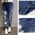 Calças de brim novas crianças impressão Unisex Jeans meninos e meninas menina calças Jeans Jeans 6J003