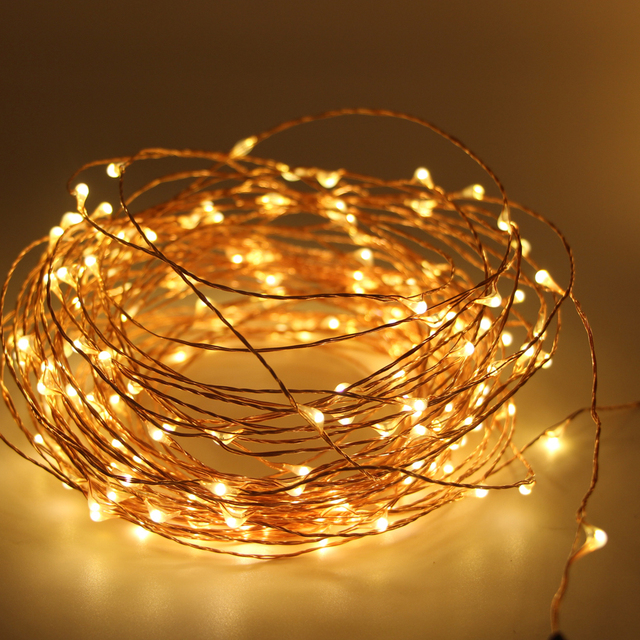 the longest copper wire string lights christmas lights outdoor decoration led starry fairy for holiday wedding