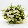 Hot Sale Romantic Wedding Bridal Bouquet 2016 Realistic Buque Noiva Wedding Roses Flowers Bridal Bouquet Accessories In Stock